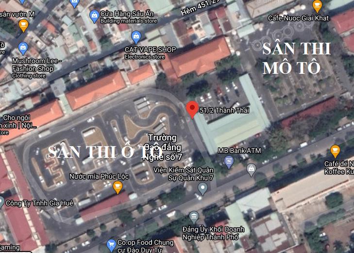 Sân Thi Thành Thái Nhìn Từ Vệ Tinh