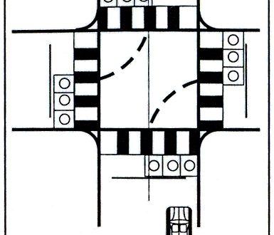Bài 5: Qua Ngã Tư Có Tín Hiệu Điều Khiển Giao Thông - Bài Thi Sa Hình B2, B1, C